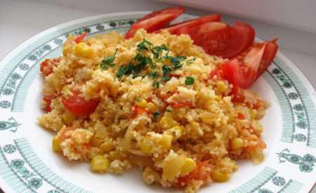 Kuskus s rajčaty