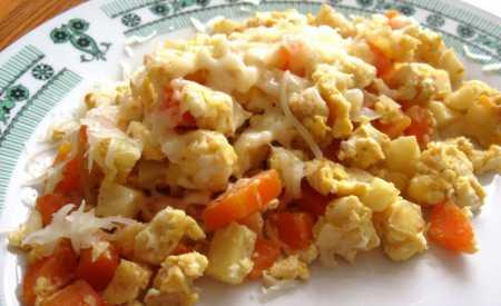 Míchaná vejce se zeleninou