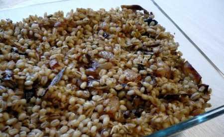 Krkonošské kroupy s houbami