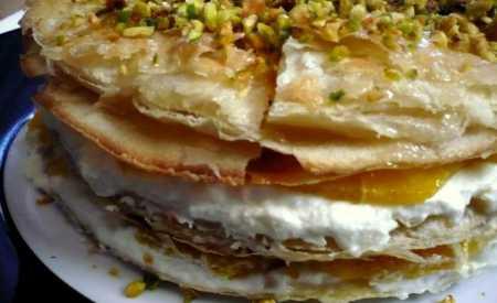 Pomerančový dort z listového těsta