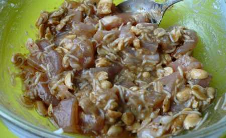 Kuřecí řízky s burskými oříšky