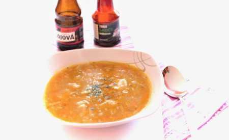 Zeleninová polévka kmínová s nočky