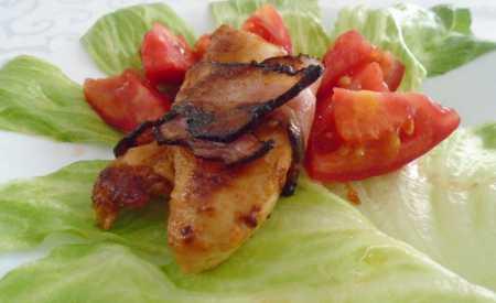 Kuřecí prsa se slaninou