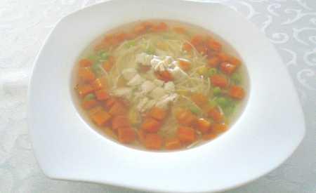 Slepičí polévka s nudlemi