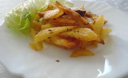 Kořeněné bramborové hranolky