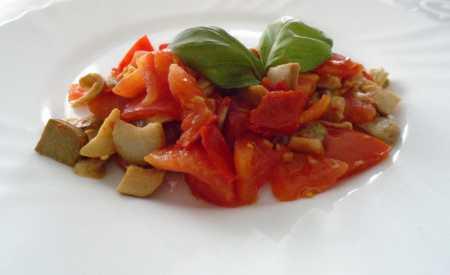 Houby s rajčaty