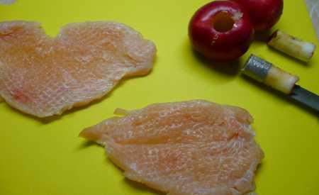 Kuřecí řízky s jablky