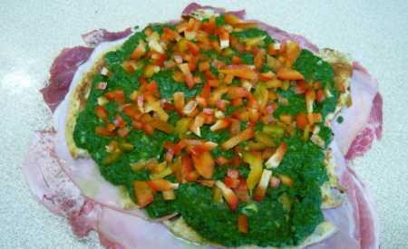 Plněná vepřová roláda se zeleninou