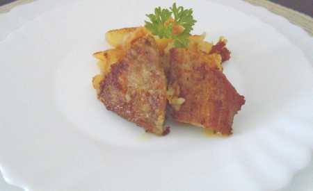 Opečené šťouchané brambory