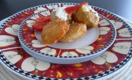 Pečené brambory plněné tvarohem