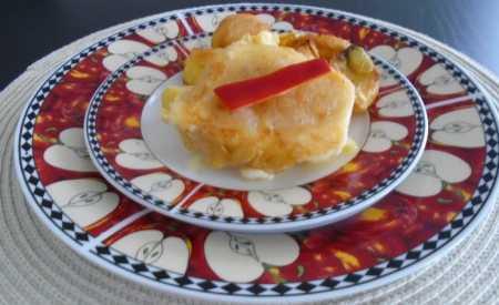 Smažený sýr se šunkou v pivním trojobalu