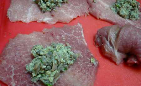 Závitky z vepřového masa po myslivecku
