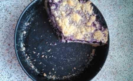 Borůvkový koláč s drobenkou II