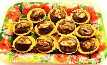 Máslové košíčky s čokoládovým krémem