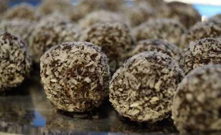 Kokosové kuličky  čokoládové