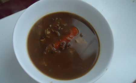 Vánoční houbová polévka II
