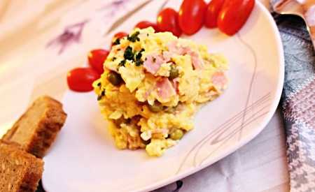 Míchaná vejce se šunkou