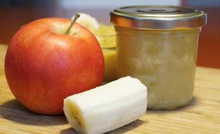 Jablečno-banánová přesnídávka