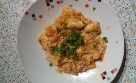 Kuřecí rizoto s červenou čočkou