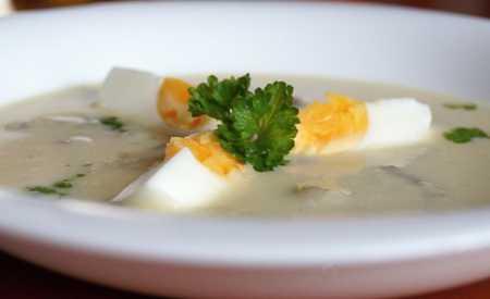 Sváteční žampionová polévka