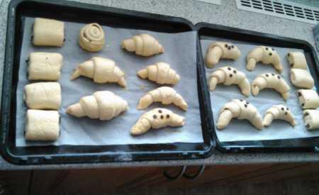 Croissanty z plundrového těsta