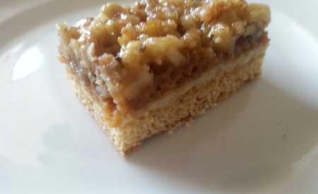 Medové ořechové řezy