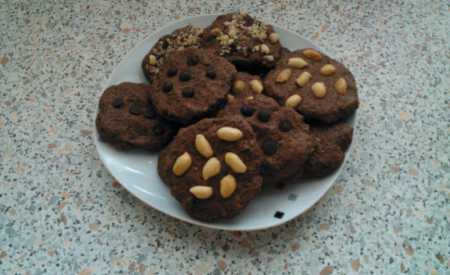 Čokoládové cookies z ovesných vloček