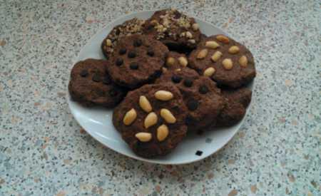 Čokoládové cookies s mandlemi