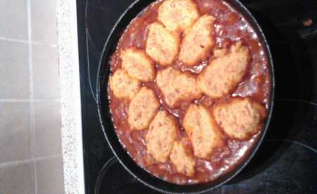 Chilli con carne s hořkou čokoládou