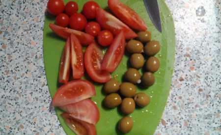 Kuře na víně s olivami