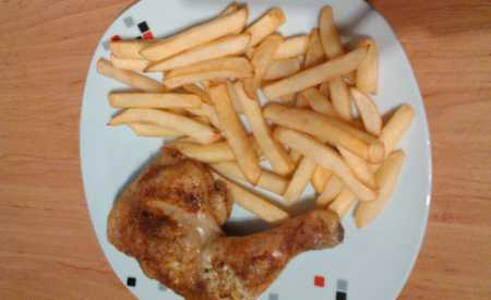 Kuře pečené na divoko
