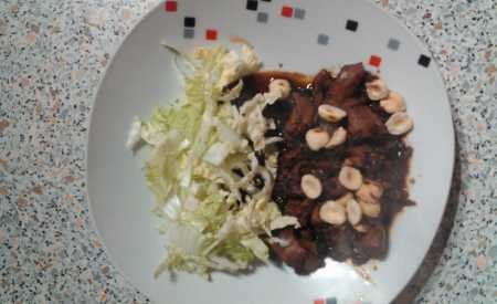 Ledový salát s játry a zeleninou