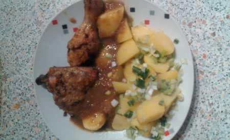 Nadívané kuře s rýží
