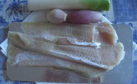 Rybí filé s pórkovou omáčkou
