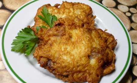 Vepřové řízky v bramboráku