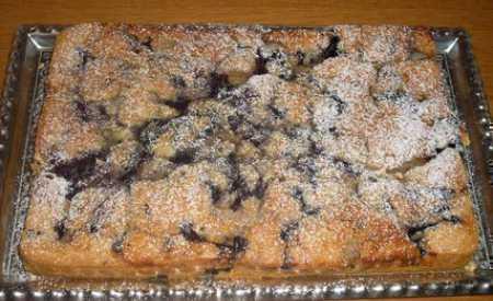 Prokládaný ovocný koláč