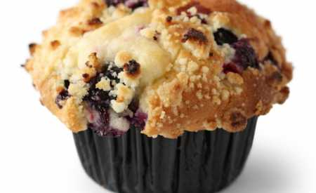 Borůvkové muffiny