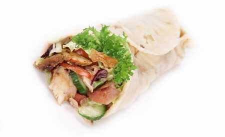 Gyros v chlebové placce