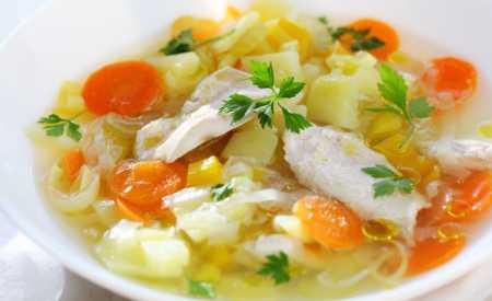 Jarní kuřátko se zeleninou a vývarem
