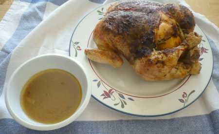 Kuře pečené po francouzsku