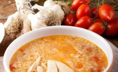 Minestrone polévka s kuřecím masem