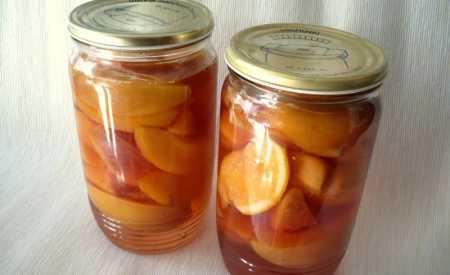 Nektarinkový kompot s pomerančem
