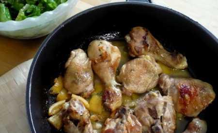 Pečené kuře na tymiánu s citronem