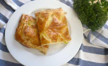 Pórkovo-sýrový flamiche