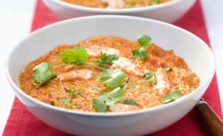 Rajská polévka z čerstvých rajčat